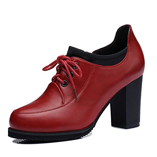 centenary-stylish-womens-british-style-artificial-leather-oxfords-round-mouth