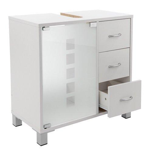 Limal-Waschtischunterschrank-mit-3-Schubladen-Holz-wei-30-x-60-x-56-cm-Glastr-Teilrckwand-Aussparung-fr-Siphon