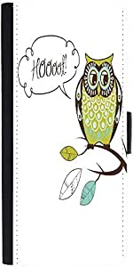 Snoogg Cute Vector Owl Hoooot Card Designer Protective Flip Case Cover For Lg G4