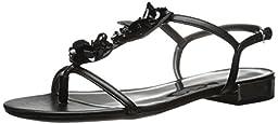 Nine West Women\'s Warsha Synthetic Dress Sandal, Black, 7 M US