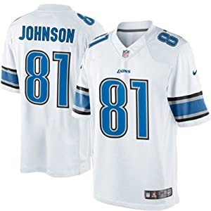 Detroit Lions NFL Calvin Johnson White Game Day Replica Jersey by NFL