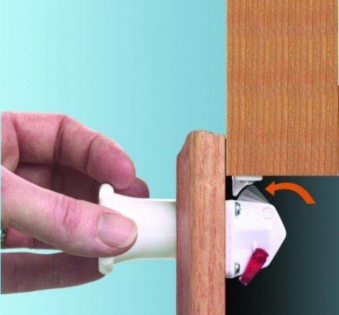 comparamus harddi fermeture magn tique s curit enfant verrou de placard lot de 4. Black Bedroom Furniture Sets. Home Design Ideas