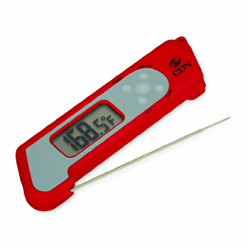 CDN TCT572-R  ProAccurate Digital  Instant Read Folding Thermocouple Cooking Thermometer-NSF Certified Red (Cdn Meat compare prices)