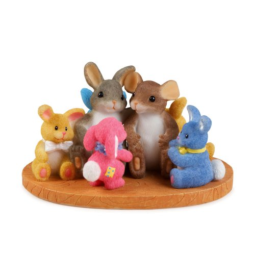 Charming Tales Mouse and rabbit with stuffed animals Figurine 2.25
