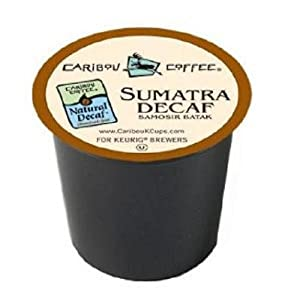 Amazon.com : Caribou Coffee, Sumatra Decaf, 24-Count K ...