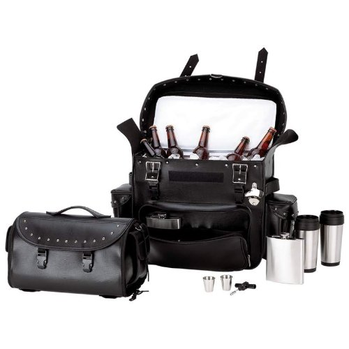 Biker Bar Trunk Bag Cooler Bag Set