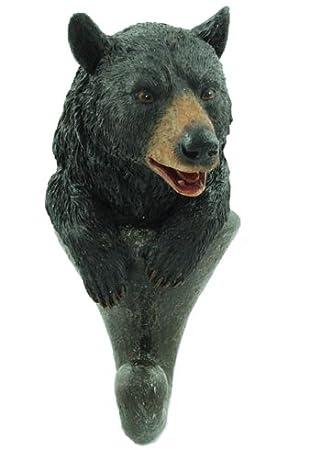 Decorative Key Hook 7 hooks black NEW Family of Bears