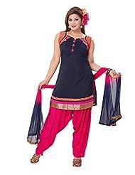Ritu Creation Women's New Silk Stitched Patyala Suit - B0154STS4Q