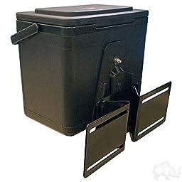6 QT. BLACK COOLER & BRACKET, Club Car Golf Cart PRECEDENT