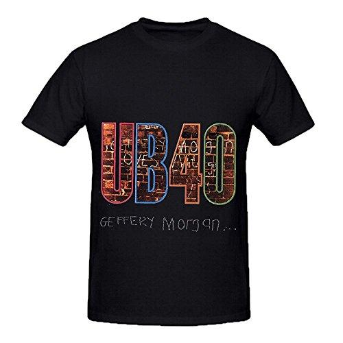 Ub40 Geffery Morgan Tour RocknRoll Mens O Neck Music Shirts Black (I Ate A Shark Shirt compare prices)