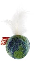 One Pet Planet Wooly Fun Feather Ball