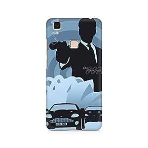 Motivatebox- Bond Premium Printed Case For Vivo V3 Max -Matte Polycarbonate 3D Hard case Mobile Cell Phone Protective BACK CASE COVER. Hard Shockproof Scratch-