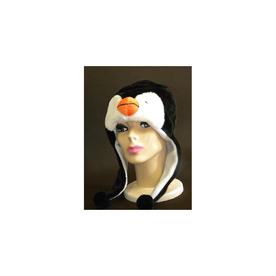Plush Penguin Animal Hat High Quality polyester Brand New