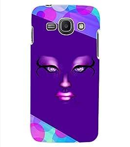 ColourCraft Creative Face Design Back Case Cover for SAMSUNG GALAXY ACE 3 S7272 DUOS