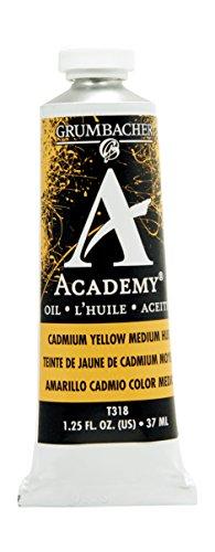 Grumbacher Academy Oil Paint, 37 ml/1.25 oz, Cadmium Yellow Medium Hue (Cadmium Yellow Oil Paint compare prices)