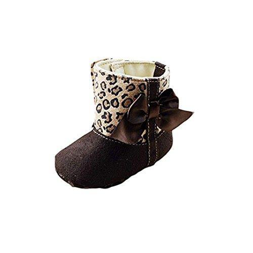 kingko® Bébé Bottes de neige molle Lit Chaussures enfant bowknot léopard Bottes