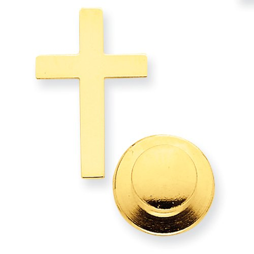 14k Polished Cross Tie Tac