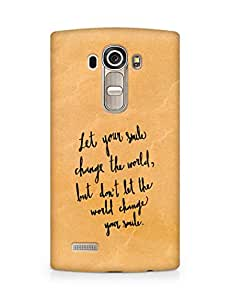 AMEZ let your smile change the world Back Cover For LG G4