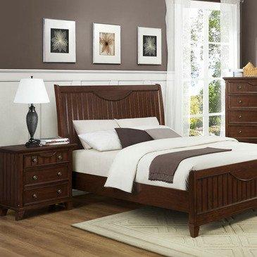 Homelegance Alyssa 2 Piece Panel Bedroom Set in Cherry