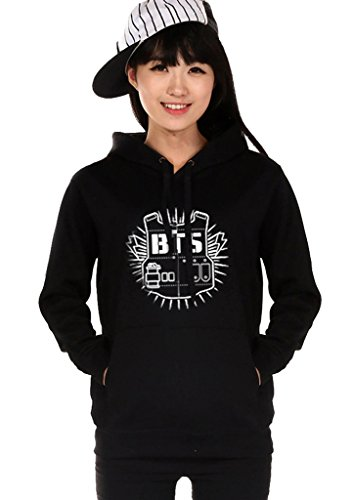 BTS Bangtan Boys Black Hoody Sweater Pullover (Hope Merchandise compare prices)