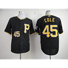 Pittsburgh Pirates 45 Gerrit Cole Coolbas Jersey (Black, White) (Black, 48 M) by Baseball