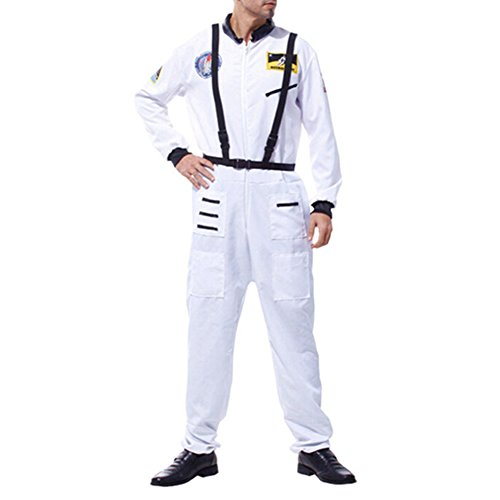 Qianle Adults's Funny Astronaut Uniform Halloween Cosplay Costume Spacesuit