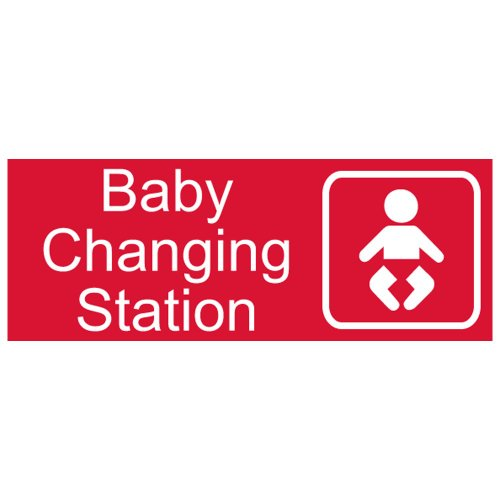Compliancesigns Engraved Acrylic Unisex / Family / Assisted Sign, 8 X 3 In. With English And Symbol, Red front-128186