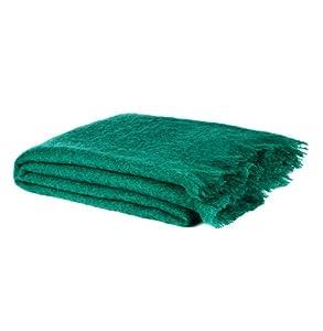 Urbanara bloemfontein luxury mohair wool blanket throw - Emerald green throw blanket ...