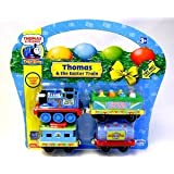 Thomas & Friends Take Along EXCLUSIVE Thomas & the Easter Train Die-Cast Metal Set w/Engine, Chick Car, Tanker, & Caboose