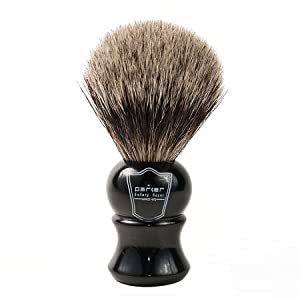 Parker Safety Razor 100% Pure Badger Bristle Shaving Brush with Ebony Handle & Free Stand