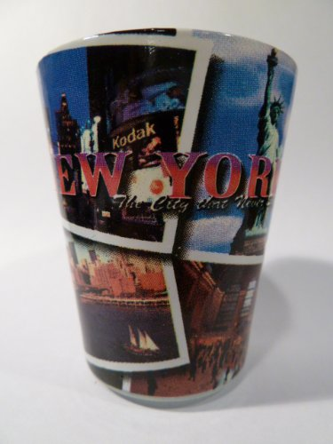New York City Postcard 617 Shot Glass