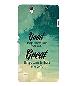 Fuson Premium Printed Hard Plastic Back Case Cover for Sony Xperia C4 Dual