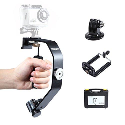 Sevenoak-SK-W08-Kamera-Stabilisator-Gimbal-Hand-Stabilisator-Steadycam-fr-iPhone-6-6-Plus-5-4-s-GoPro-Hero-4-3-3-mit-Telefon-Clip-und-Gopro-adapter