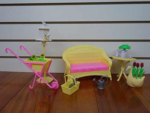 Barbie Size Dollhoues Garden Set- Sunlight Garden Set by Huaheng Toys