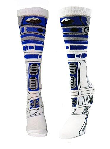 Star Wars R2-D2 (R2D2) Knee High Socks (Small,White) (R2d2 Hat)