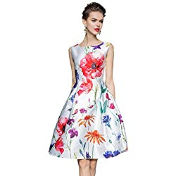 MR Fashion White Digital Printed Semi-Stitch Western Dress