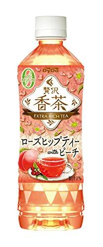 ダイドードリンコ 贅沢香茶 ピーチ&ローズヒップティー 500ml×24本