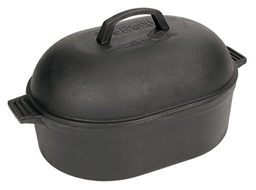 Bayou Classic 12 Quart Cast Iron Oval Roaster with Domed Lid 7418