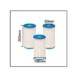 Intex 59900-3 Cartouches pour filtre de piscine - Type A. Set de 3 pièces