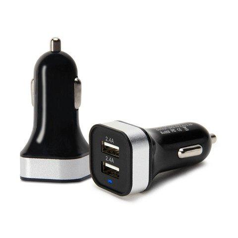 ThreadWells-Schwarz-und-Silber-Dual-Port-High-Speed-USB-Auto-schnelle-LadungHandyelektronischeLadegert-fr-Apple-iPhone-6-Plus65S5C44S-iPod-TouchscreenShuffle-MacMacProiMacAirTouchscreen-Fenster-Samsun