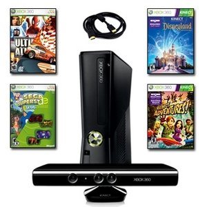Exclusive XBOX 360 Slim 4GB Super Holiday Bundle with 6 Games and More By Microsoft (New)