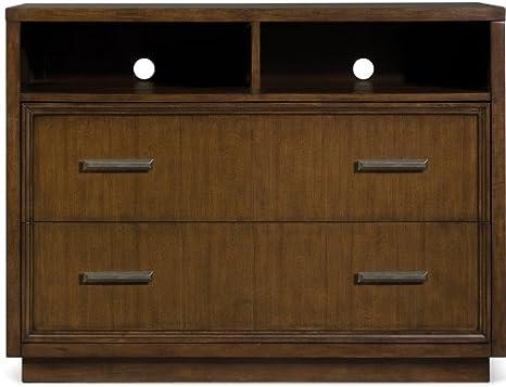 MagnussenB1769 Jaffrey Chestnut Finish with Antique Brass Hardware Wood Queen Lattice Bed