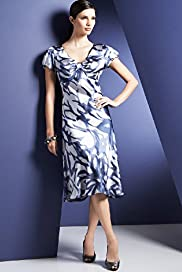 Autograph Pure Silk Abstract Petal Print Dress