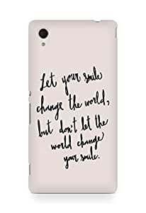 AMEZ let your smile change the world Back Cover For Sony Xperia M4