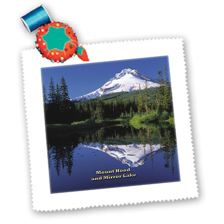 3Drose Qs_156470_4 Mount Hood And Mirror Lake Cascade Range Of Volcanoes In Oregon Quilt Square, 12 By 12-Inch
