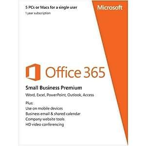 Microsoft Office 365 Small Business Premium 5 PCs or Macs Key Card (No Disc)