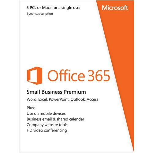 Microsoft Office 365 Small Business Premium 1 Year Subscription