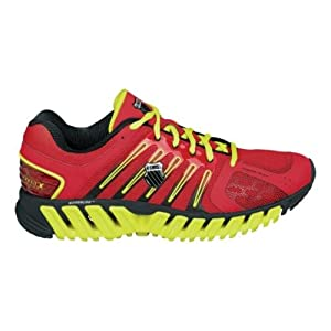 K-Swiss Men's Blade-Max Stable Running Shoe,Fiery Red/Optcyllw/Black,11.5 M US