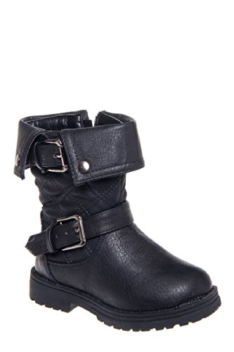 Eddie Marc Kid's 6045 Low Heel Zip Up Bootie