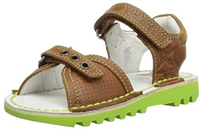 Kickers Boys Kick Jess Fashion Sandals 112663 Tan 5 UK Child, 22 EU